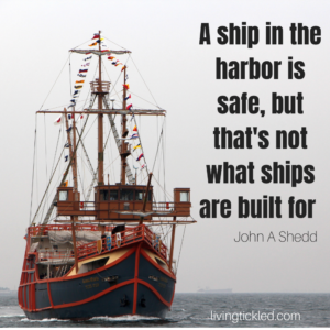 _A ship in the harbor is safe, but that's not what ships are built for._ - John A Shedd