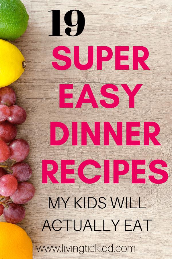 19 super easy dinner recipes-min